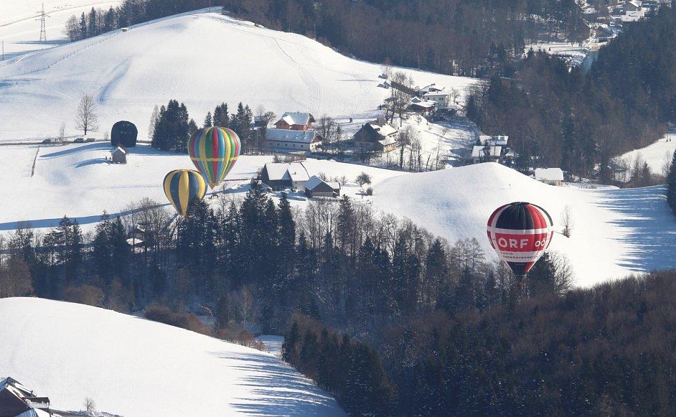 Balony z Břestku se zúčastnily Balonové fiesty v rakouském alpském městečku Filzmoos.