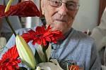 František Hamada na oslavách svých 103. narozenin