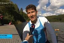 Kanoista Jiří Zalubil v rozhovoru pro Českou televizi.