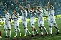 1. FC Slovácko - Bohemians 1905. Oslava výhry.