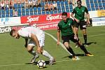HET liga 1. kolo: 1. FC Slovácko - FK Jablonec. Na snímku vlevo Tomáš Zajíc.