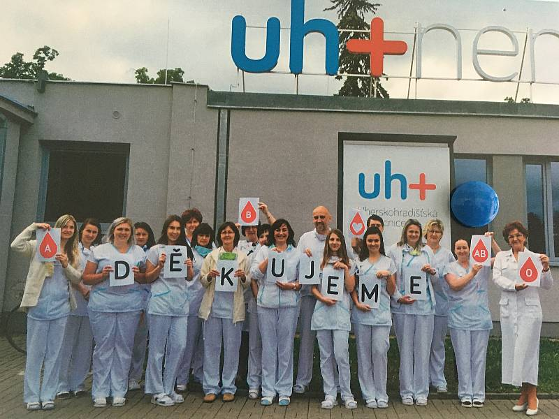 Kolektiv Hematologického oddělení Nemocnice Uherské Hradiště.