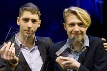 Jakub Kunt vlevo a vpravo Tomáš Habarta, nejlepší sportovec Uherského Hradiště za rok 2018 do 15 let.