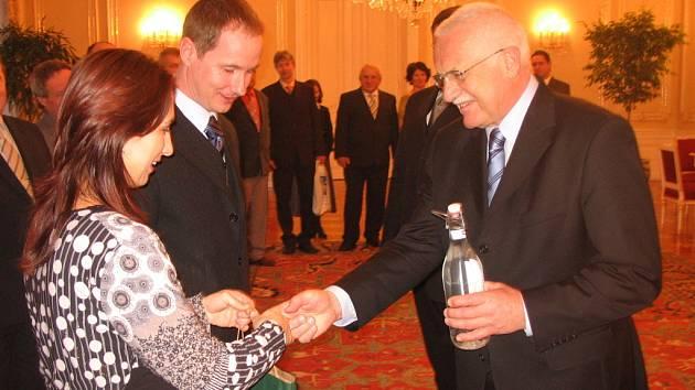 Starosta Suché Lozi Petr Gazdík s manželkou byli přijati prezidentem republiky.