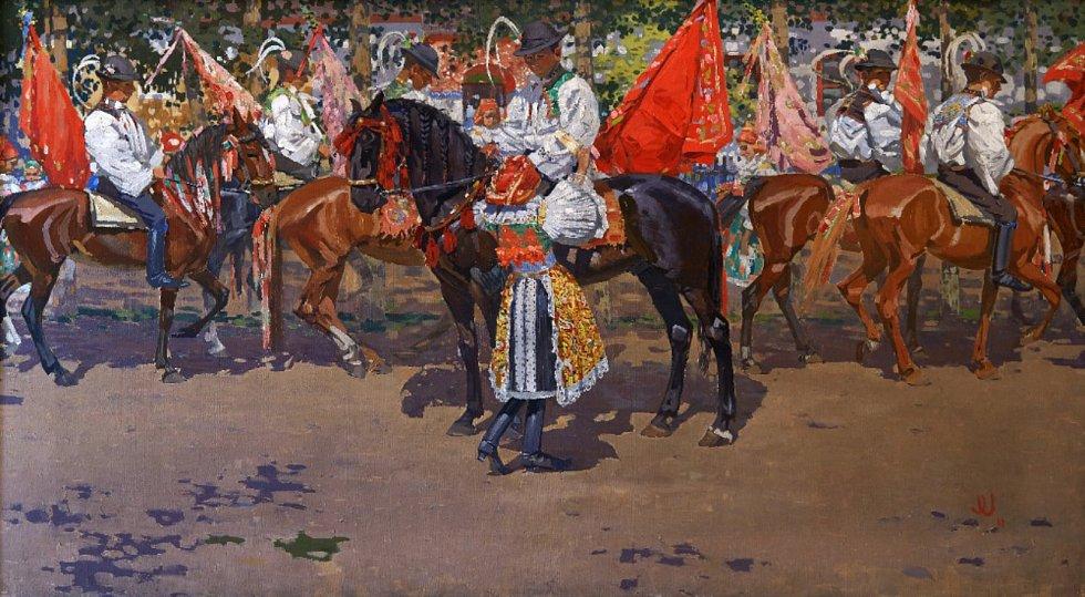 Obraz Jízda králů Joži Uprky.