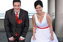 Soutěžní svatební pár číslo 1 - Tomáš a Silvie Minaříkovi, Bohuslavice u Zlína.