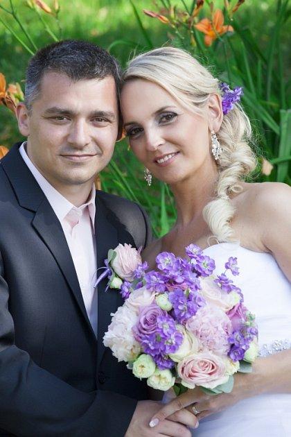 Soutěžní svatební pár číslo 41Radka a Jiří Plačkovi, Zlín.