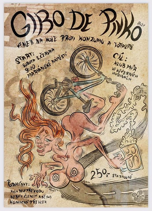 Giro de Pivko - 47. ročník. Plakát.