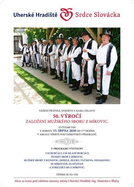 Mužský sbor zMíkovic oslaví výročí 50let existence.