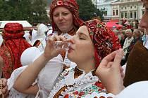Vítězná fotografie ze Slováckých slavností vína, kategorie: U skleničky