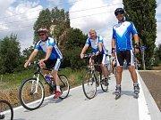 Čilý ruch začal na cyklostezce spojující Kunovice a Ostrožskou Novou Ves.