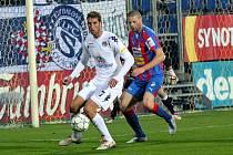 1. FC Slovácko - Viktoria Plzeň. David Bystroň a Libor Došek (zprava).
