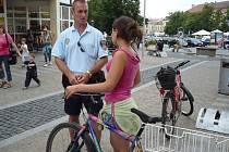 """Strážnící v ulicích Hradiště pravidelně dělají """"zátahy"""" na cyklisty. Ilustrační foto."""