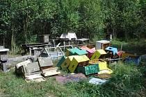 Neznámý vandal zničil včelí úly.