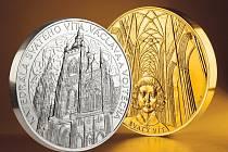 Zlatá kilogramová medaile s katedrálou zůstane osamocena. Stříbrných může mincovna vyrazit dvacet devět.