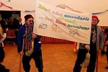 Maškarní ples v kulturním domě v Kudlovicích s vyhlášením nejlepších sportovců.