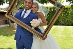 Soutěžní svatební pár číslo 228. Monika Pavlíčková a Ernesto Celso Pereira Da Silva Amorim, Zubří.