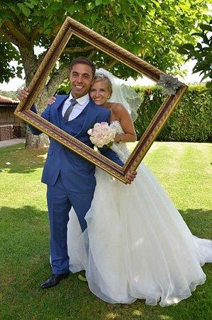 Soutěžní svatební pár číslo 228.Monika Pavlíčková a Ernesto Celso Pereira Da Silva Amorim, Zubří.