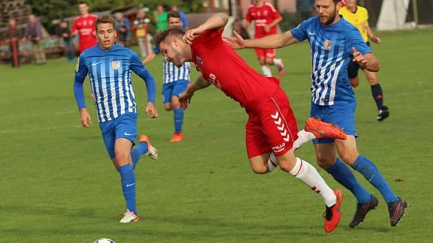 Uherský Brod (v červeném) proti 1.SK Prostějov