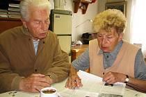 Olga Rožnovská navzdory svému věku, pořád pracuje.