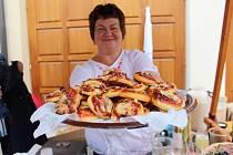 K ochutnání bylo možné zkusit taky pizza koláčky z Boršic.
