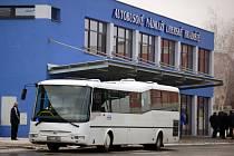 Nová výpravní budova ČSAD v Uherském Hradišti.