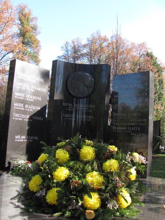 Kroměřížský hřbitov: arm. gen. Ludvík Svoboda (1895-1979).