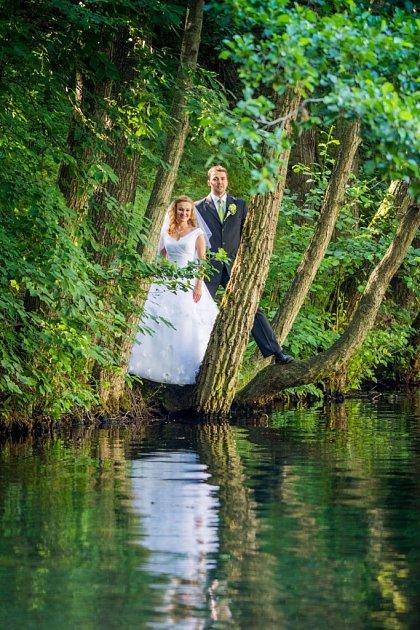 Soutěžní svatební pár číslo 15 - Kateřina a Karel Podešvovi, Střítež nad Ludinou