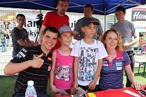 Malí návštěvníci Dne dětí s Hamé si mohli užít biatlonistů i cestování.