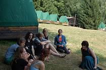 Tábor hostilo malebné prostředí Starých Hutí.