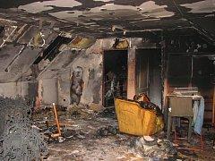 Požár rodinného domu ve Starém Městě