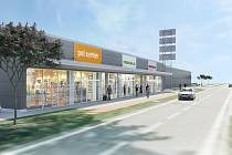 U Kauflandu v Uherském Hradišti vznikne nový retail park Nest s pěticí nových obchodů.