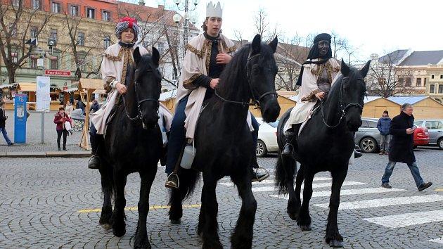 Tříkrálovou sbírku v Hradišti zahájily tři královny