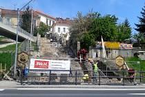 Velké schody v Uherském Brodě prochází zásadní rekonstrukcí.