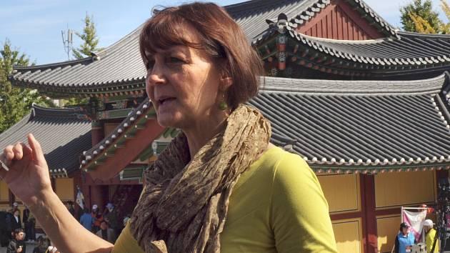 Ladislava Košíková v Jižní Koreji.