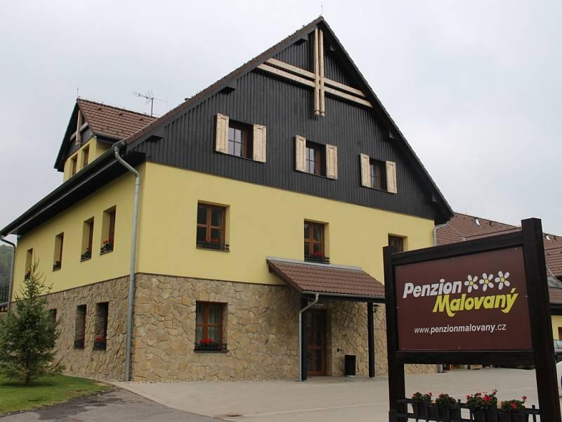 Penzion Malovaný v Osvětimanech.