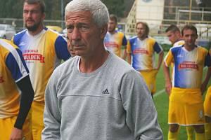 Trenér fotbalistů Starého Města Libor Soldán.