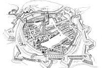 Nákres pevnosti Uherské Hradiště.