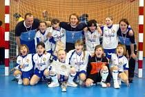 Mladé fotbalistky 1. FC Slovácko.