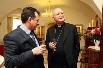 Monsignor Claudio Maria Celli na zámku v Ořechově.