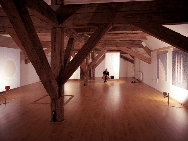 Ideální podmínky našel autor pro svou výstavu v podkroví Reduty.