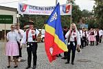 Slavnostní průvod na Slováckých slavnostech vína a otevřených památek v Uherském Hradišti.