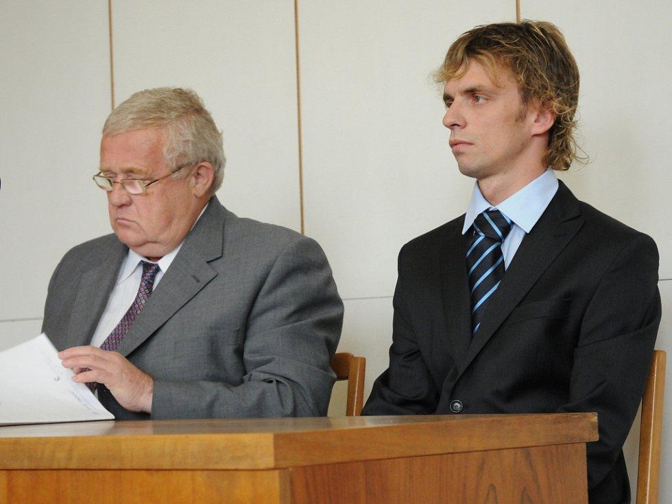 Obžalovaný Martin Vaverka před soudem.