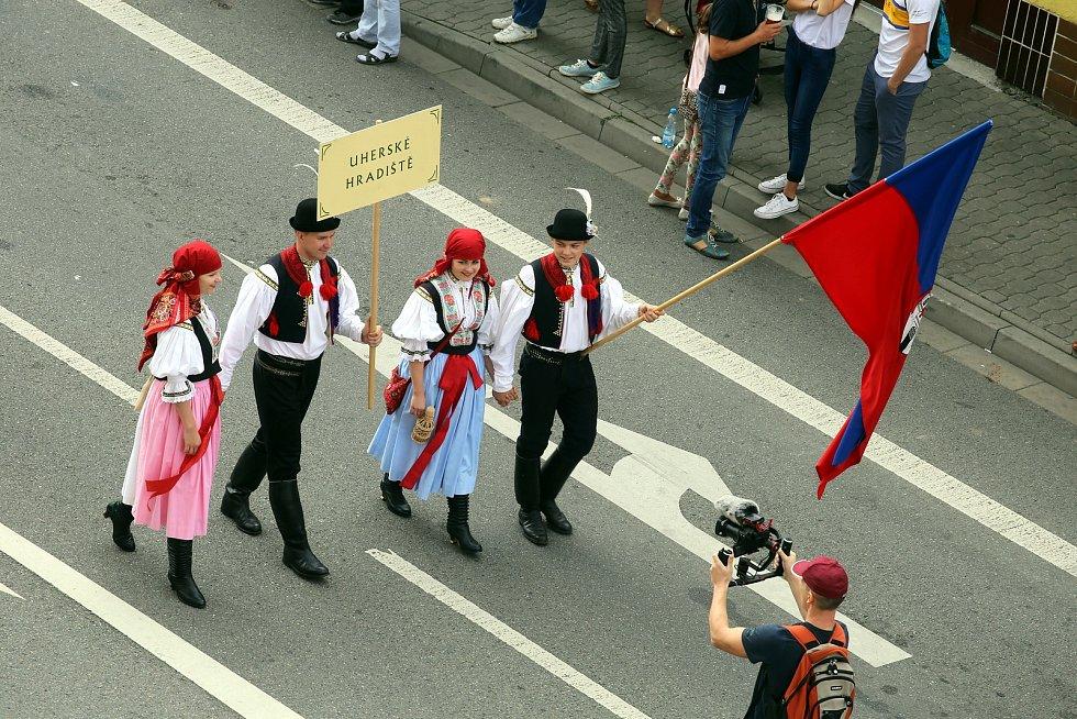 Slovácké slavnosti vína  2018. Průvod.