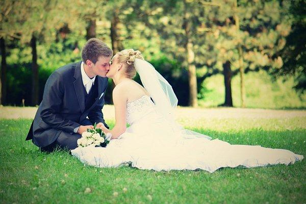 Soutěžní svatební pár číslo 95 - Anička a Martin Popovi, Malhotice.
