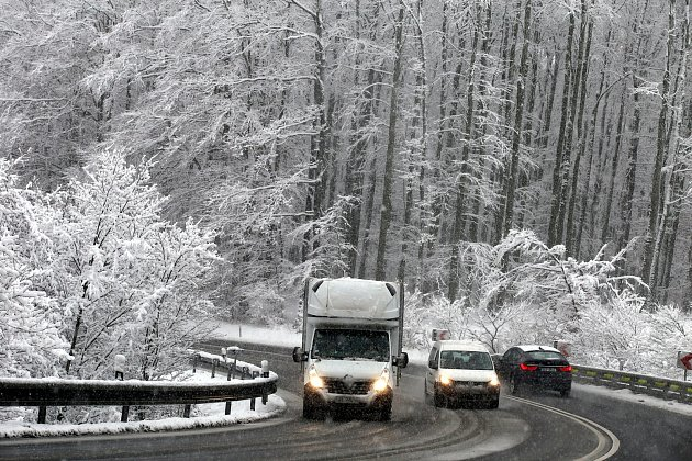 Silnice E 50 v Chřibech.