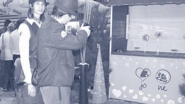 O dalším osudu divočáka z oblíbené vánoční reklamy na Kofolu rozhodovali návštěvníci veletrhu.