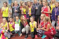 Parádního úspěchu dosáhly mladé atletky Slovácké Slavie Uherské Hradiště, když na Mistrovství Moravy a Slezska mladšího žactva obsadily ve finále družstev fantastické druhé místo.