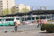 V pondělí 3. dubna začaly opravy okolí autobusového nádraží a Františkánské ulice v Uherském Hradišti.