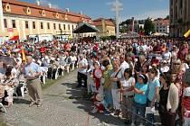 Velehradskou pouť navštívilo na třicet tisíc lidí.